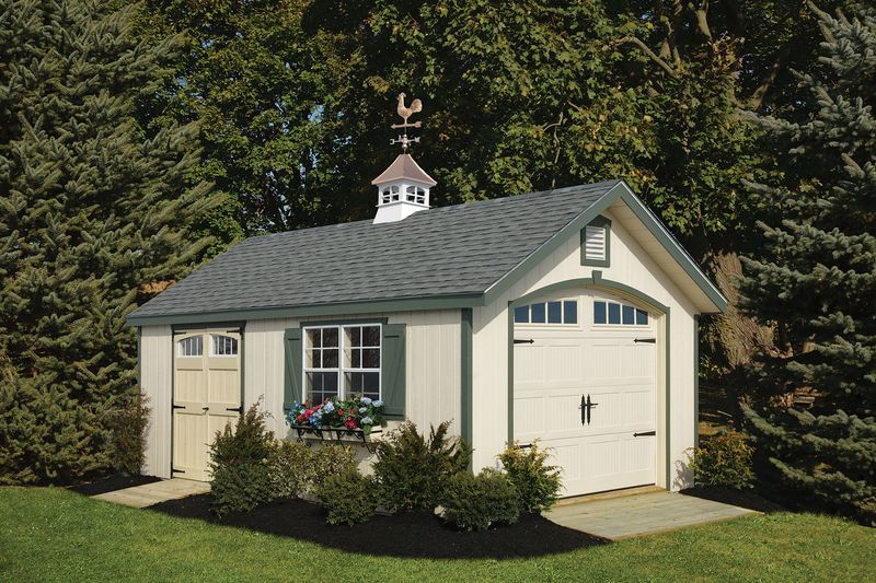 12 x 20 Heritage Garage with copper cupola