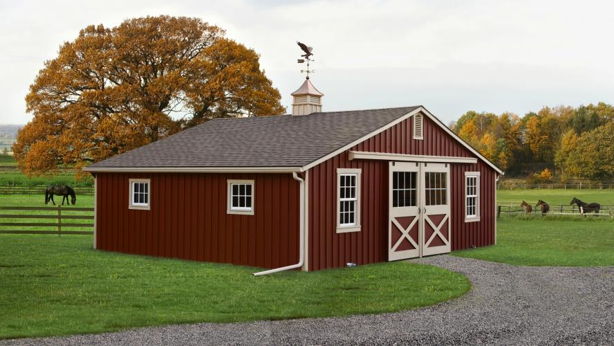 30 x 24 Low Profile Horse Barn