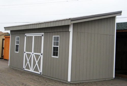 Lean to type Storage Shed