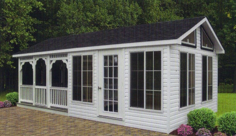 Sheds for sale home depot shed 2 story from home depot for Shed into pool house
